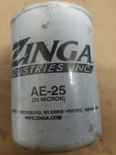 Hydraulic Oil Filter Element Zinga AE-25 Micron Spin On