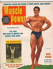 MUSCLE POWER bodybuilding fitness workout magazine/Reg Park Mr Universe 8-54