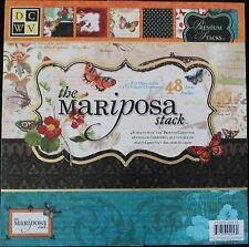 DCWV  Mariposa 12x12 Premium Cardstock Paper Stack Half with Glitter and Foil