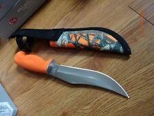 "CASE XX CA-6213 ORANGE HANDLE LW HUNTER KNIFE 10"" OVERALL S.S. BLADE NYLON SHEAT"