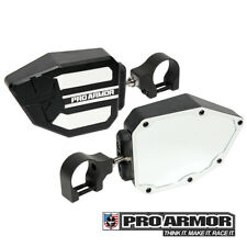 "Pro Armor Universal White Side View Mirrors 1.75"" Clamp Kawasaki Can-am Polaris"