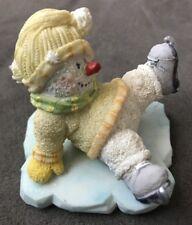 Russ Ice Sculptures Snowman Fallen Ice Skater Fall La La La La Miniature