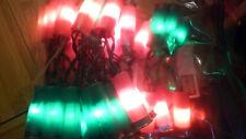 red and green shotgun shell lights 35 light string