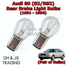 Audi 80 Rear Brake Light Bulbs Pair of Stop Tail Light Bulbs S2 / RS2 (91-96)