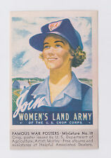 ORIGINAL WW II WOMEN'S LAND ARMY POSTER STAMP