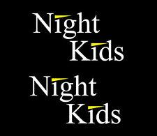 Night kids Initial D sticker vinyl decal car window doors two colors set of 2