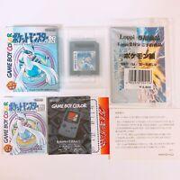 Pokemon Silver Pocket Monsters w/ Postcard Game Boy Color GB Nintendo Japan
