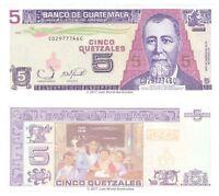 Guatemala 5 Quetzales 2006 P-106b Banknotes UNC