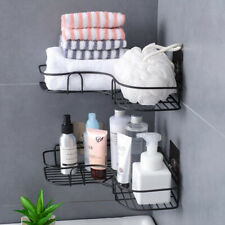 Triangular Corner Kitchen Bathroom Shower Caddy Rack Wall Shelf Organizer Holder
