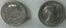 Pair Susan B. Anthony Coins 1979P & 1980P circulated. Good (2 coins)