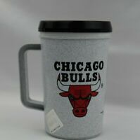 Chicago Bulls Super Thermo Insulated Plastic Travel Mug Vintage 1992  14oz 297