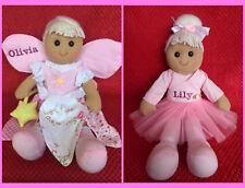 Personalised Bambola di Pezza Ballerina o fata compleanno, Fiore ragazza, sorella maggiore, Regalo