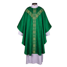 Green Traditio 4 Piece Mass Set Chasuble Dalmatic, Priest & Deacon Stoles