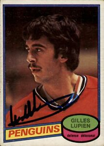 Gilles Lupien Signed 1980-81 O-Pee-Chee Rookie Card #298 Montreal Canadiens
