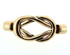 Kumihimo End Cap/ Magnetic Clasp Celtic Knot Twist Rose Gold Hole 5mm (FNCM4073)