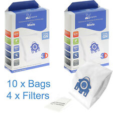 10 x GN 3D Microfibre Bags & Filters for Miele Classic C1 Vacuum Cleaners