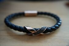 Swarovski Cross Signature Bracelet Men's Unisex Jet/Black Crystal MIB 5115156