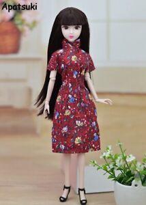 Doll Accessories Handmade Dress Clothes For Barbie Cheongsam Chinese Dress Qipao