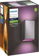 Philips Hue White and Colour Ambiance Resonate LED Outdoor Wall Light