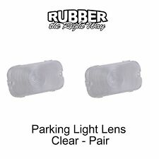 1964 1965 Ford Thunderbird Fairlane Parking Light Lenses - Pair - Clear