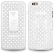 AMZER WHITE SHELLSTER SHELL CASE BELT CLIP STAND HOLSTER FOR APPLE IPHONE 6