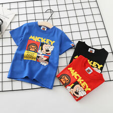 2020 Kids Boy Girls Baby Milo & Mickey Monkey Cartoon T-Shirt Tops Summer Tee