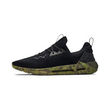 Under Armour Mens Black Synthetic with Rubber Sole Sport Style Shoes Size 8.5 US
