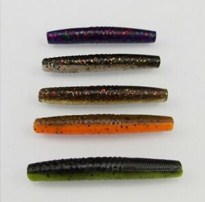 Ned Rig Finesse Worm Wacky Rig Perch Lure Creature 65mm 4g Perch Chub Trout10Pcs