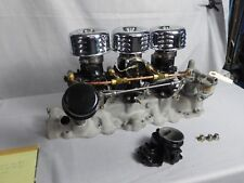 Vintage Weiand Manifold 3x2 with Rare Holley 2102 Racing Carbs for 49-53 Ford V8