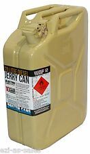 20L METAL JERRY CAN OLIVE YELLOW DIESEL AUSTRALIAN STANDARDS AS2906 U.N APPROVED