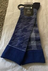 Brand New Men's Stance Plaid Out Dress Socks Size Large 9-13 $29.99 Value
