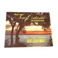Oklahoma 1907-1957 Semi-Centennial Celebration Vintage Paper Ephemera Brochure
