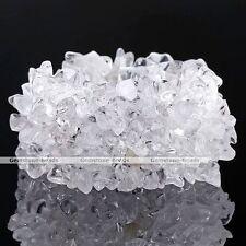 Clear Rock Crystal Quartz Chips Bead Wide Wristband Band Bangle Bracelet 1x