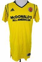 Adidas McDonald's All American Game Jersey Basketball Yellow Mens Size 2XL2
