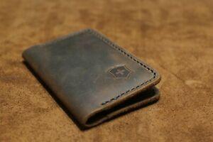 Victorinox Leather Credit Card Sleeve Holder Slim Leather Wallet handmade