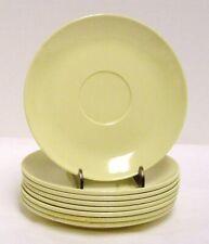 "8 Boontonware Somerset Yellow Melmac Melamine Saucers 6202-5 7/8"" Mid-Century"
