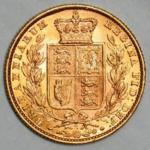 HIGH QUALITY 1871-S Queen Victoria Gold Shield Sovereign - Sydney Mint