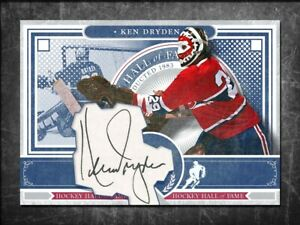 KEN DRYDEN Custom Cut signed autographed card Montreal Canadiens