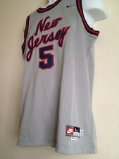 Authentic NIKE BRAND New Jersey Nets Kidd # 5 Jersey 1977 Rewind Youth L +2