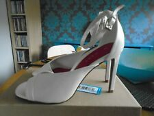NEW next size 6 white high heel peep toe /ankle strap shoes/ faux leather rp £35
