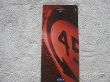 2001 Ford Focus  Mustang Zx2 Sales Brochure