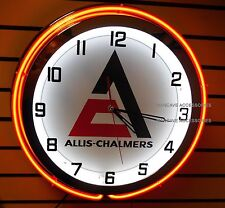 "18"" ALLIS-CHALMERS A-C New Logo Sign Double Neon Clock"