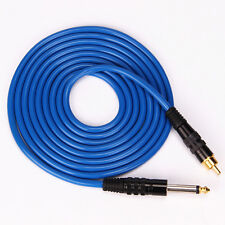 New Soft Silicone Power Supply RCA Cord For Tattoo Machine  2.4M 8'F Blue