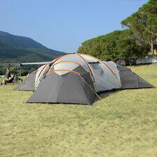 skandika Turin Tente Familiale Camping Dôme 12 pers. 840x720x200cm Gris NEUVE