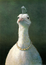 Fowl with Pearls Art Print By Michael Sowa - 16.5x23.5