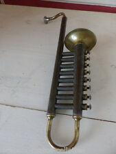 jouet trompette d'enfant en tôle et cuivre haut 36  cm /ATELIER / INDUSTRIEL