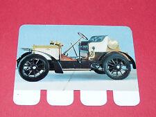 N°13 PEUGEOT 1906 PLAQUE METAL COOP 1964 AUTOMOBILE A TRAVERS AGES