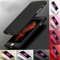 Full Body Hybrid 360° Hard Ultra thin Case Tempered Glass Cover For iPhone 6G 6S