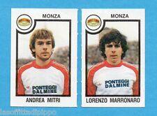 PANINI CALCIATORI 1982/83 -Figurina n.494- MITRI+MARRONARO - MONZA -Rec