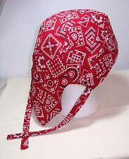 Bandana (Red) Skull Cap / Doo Rag w/Cool Max Lining